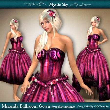 Miranda Ballroom Gown in Pink