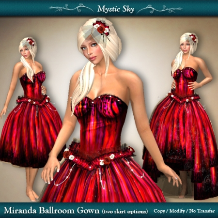 Miranda Ballroom Gown in Red